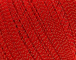 Ne: 10/3 Nm: 17/3 Fiber Content 96% Mercerised Cotton, 4% Metallic Lurex, Red, Brand ICE, Gold, Yarn Thickness 1 SuperFine  Sock, Fingering, Baby, fnt2-49856