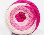 İçerik 100% Akrilik, White, Pink Shades, Brand Ice Yarns, Yarn Thickness 3 Light  DK, Light, Worsted, fnt2-51511