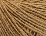 Fiber Content 50% Wool, 50% Acrylic, Light Brown, Brand ICE, Yarn Thickness 3 Light  DK, Light, Worsted, fnt2-52177