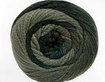 Fiber Content 90% Acrylic, 10% Polyamide, Turquoise, Brand ICE, Grey Shades, Yarn Thickness 4 Medium  Worsted, Afghan, Aran, fnt2-52621