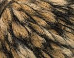 Fiber Content 35% Acrylic, 35% Polyamide, 30% Wool, Brand ICE, Camel, Black, fnt2-53512