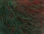 Fiber Content 63% Acrylic, 37% Wool, Red, Brand ICE, Green, Burgundy, fnt2-54451