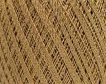 Ne: 10/3 Nm: 17/3 Fiber Content 96% Mercerised Cotton, 4% Metallic Lurex, Brand ICE, Gold, Camel, Yarn Thickness 1 SuperFine  Sock, Fingering, Baby, fnt2-54759