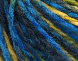 Fiber Content 50% Wool, 50% Acrylic, Yellow, Brand ICE, Green Shades, Blue, fnt2-55595