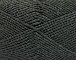 Fiber Content 50% SuperFine Nylon, 50% SuperFine Acrylic, Brand ICE, Dark Grey, Yarn Thickness 4 Medium  Worsted, Afghan, Aran, fnt2-56280