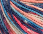 Fiber Content 60% Acrylic, 40% Wool, White, Salmon, Purple, Brand ICE, Blue, Yarn Thickness 5 Bulky  Chunky, Craft, Rug, fnt2-57247