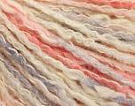 Fiber Content 50% Cotton, 50% Acrylic, Pink Shades, Light Lilac, Brand ICE, Cream, Yarn Thickness 4 Medium  Worsted, Afghan, Aran, fnt2-57280