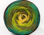 Fiber Content 50% Cotton, 50% Acrylic, Yellow, White, Turquoise, Khaki, Brand ICE, Green, Brown, Yarn Thickness 2 Fine  Sport, Baby, fnt2-57332