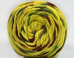 Fiber Content 80% Acrylic, 20% Polyamide, Yellow, Brand ICE, Grey, Green, Brown, Yarn Thickness 4 Medium  Worsted, Afghan, Aran, fnt2-57343