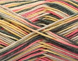 Fiber Content 100% Acrylic, Yellow, Pink, Brand ICE, Grey, Yarn Thickness 2 Fine  Sport, Baby, fnt2-57351
