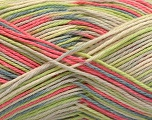 Fiber Content 100% Acrylic, Pink, Brand ICE, Green, Cream, Blue, Yarn Thickness 2 Fine  Sport, Baby, fnt2-57357