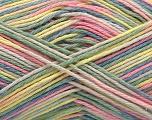 Fiber Content 100% Acrylic, Yellow, Pink, Light Green, Brand ICE, Cream, Blue, Yarn Thickness 2 Fine  Sport, Baby, fnt2-57358
