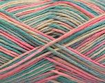 Fiber Content 100% Acrylic, Pink, Mint Green, Light Blue, Brand ICE, Cream, Yarn Thickness 2 Fine  Sport, Baby, fnt2-57359
