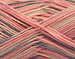 Fiber Content 100% Acrylic, Pink Shades, Brand ICE, Grey, Cream, Yarn Thickness 2 Fine  Sport, Baby, fnt2-57362