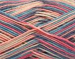 Fiber Content 100% Acrylic, Pink, Lavender, Brand ICE, Cream, Blue, Yarn Thickness 2 Fine  Sport, Baby, fnt2-57365