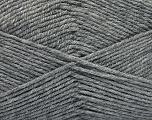 Fiber Content 80% Acrylic, 20% Polyamide, Brand ICE, Grey, Yarn Thickness 3 Light  DK, Light, Worsted, fnt2-57372