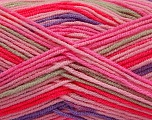 Fiber Content 100% Acrylic, Pink Shades, Lilac, Brand ICE, Beige, Yarn Thickness 3 Light  DK, Light, Worsted, fnt2-57387
