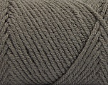 Items made with this yarn are machine washable & dryable. Fiber Content 100% Acrylic, Brand ICE, Dark Grey, Yarn Thickness 4 Medium  Worsted, Afghan, Aran, fnt2-57402