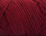 Items made with this yarn are machine washable & dryable. Fiber Content 100% Acrylic, Brand ICE, Dark Burgundy, Yarn Thickness 4 Medium  Worsted, Afghan, Aran, fnt2-57424