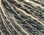 Fiber Content 50% Acrylic, 50% Wool, Brand ICE, Grey Shades, Cream, fnt2-57689