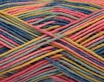 İçerik 100% Akrilik, Yellow, Pink, Brand ICE, Blue Shades, Yarn Thickness 2 Fine  Sport, Baby, fnt2-57935