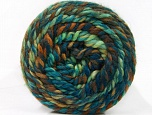 İçerik 70% Akrilik, 30% Yün, Turquoise, Brand ICE, Green Shades, Brown Shades, Yarn Thickness 6 SuperBulky  Bulky, Roving, fnt2-58158