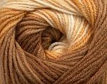 Fiber Content 100% Acrylic, Brand ICE, Cream, Brown Shades, Yarn Thickness 3 Light  DK, Light, Worsted, fnt2-44704