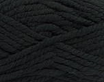 Fiber Content 55% Acrylic, 45% Wool, Brand ICE, Black, Yarn Thickness 6 SuperBulky  Bulky, Roving, fnt2-45120