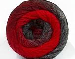 Fiber Content 90% Acrylic, 10% Polyamide, Red, Brand ICE, Grey Shades, Yarn Thickness 4 Medium  Worsted, Afghan, Aran, fnt2-48380