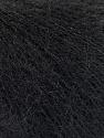 Fiber Content 52% SuperKid Mohair, 35% Polyamide, 13% Superwash Extrafine Merino Wool, Brand ICE, Black, Yarn Thickness 1 SuperFine  Sock, Fingering, Baby, fnt2-53026