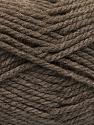Bulky  Fiber Content 100% Acrylic, Brand ICE, Brown, Yarn Thickness 5 Bulky  Chunky, Craft, Rug, fnt2-55652
