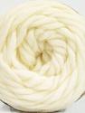 Fiber Content 100% Wool, Brand ICE, Cream, Yarn Thickness 6 SuperBulky  Bulky, Roving, fnt2-55655