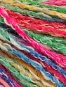 Fiber Content 50% Cotton, 50% Acrylic, Brand ICE, Green, Gold, Fuchsia, Blue, Yarn Thickness 4 Medium  Worsted, Afghan, Aran, fnt2-57289