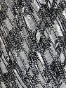 Trellis  İçerik 95% Polyester, 5% Simli, White, Silver, Brand ICE, Black, Yarn Thickness 5 Bulky  Chunky, Craft, Rug, fnt2-58090