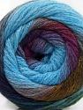 İçerik 90% Akrilik, 10% Polyamid, Purple Shades, Brand ICE, Green Shades, Blue, Yarn Thickness 4 Medium  Worsted, Afghan, Aran, fnt2-58119