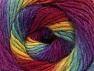 İçerik 70% Akrilik, 30% Yün, Rainbow, Brand ICE, Yarn Thickness 3 Light  DK, Light, Worsted, fnt2-58146