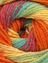 Fiber Content 95% Acrylic, 5% Lurex, Yellow, Turquoise, Salmon, Orange, Lilac, Brand ICE, Green, Yarn Thickness 3 Light  DK, Light, Worsted, fnt2-48134