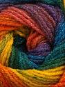 Fiber Content 95% Acrylic, 5% Lurex, Yellow, Teal, Purple, Orange, Brand ICE, Green, Blue, Yarn Thickness 3 Light  DK, Light, Worsted, fnt2-48182